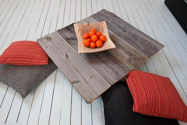 โต๊ะไม้ โต๊ะญี่ปุ่น ทำจากวัสดุไม้เหลือใช้